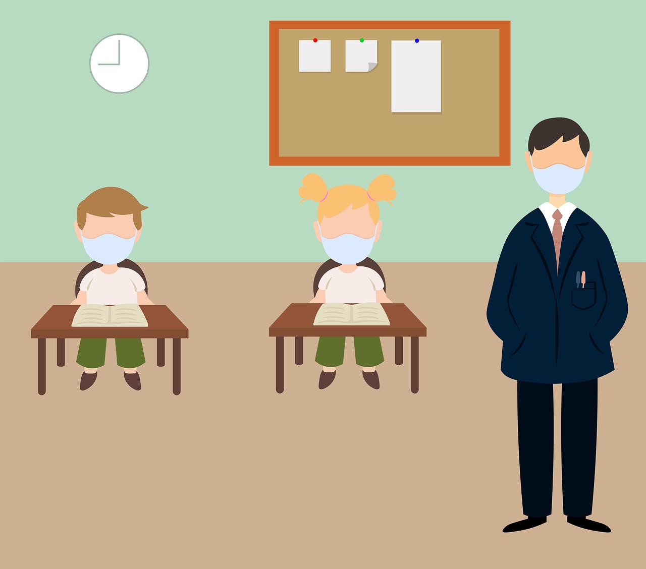 classroom, school, coronavirus