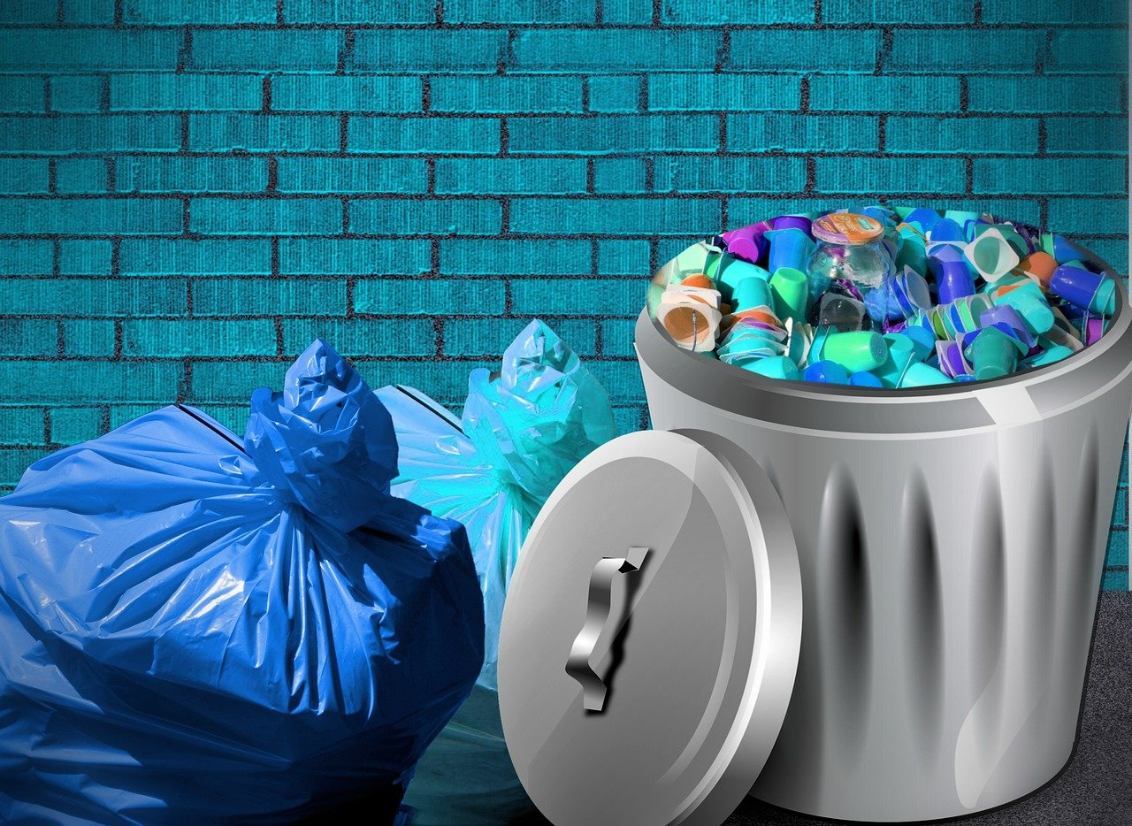 garbage bag, waste, non recyclable waste